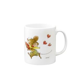 可愛いネズミちゃん ハート Mugs