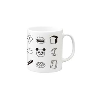 Pモノグラム_BK Mug