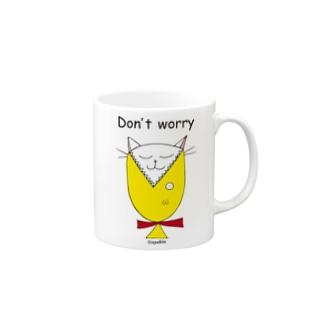 ayakin 白猫ウメちゃん Don't worry  Mugs