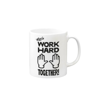 D.R.E.A.M. BUY10 (次元反応拡大活動委員会売店)のL.W.H.T.(Lets Work Hard Together)珈琲杯 Mugsの取っ手の右面