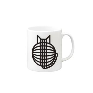 猫の丸い背中 マグカップ Mugs