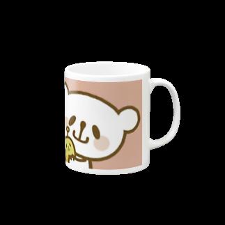 おやまくまオフィシャルWEBSHOP:SUZURI店のおやまくまぐ(ピンク) マグカップ
