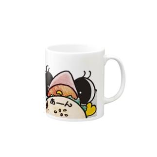 モモ色くちばしペンギンポニ❤お食事中 Mugs
