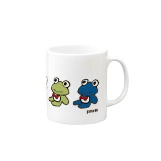 カエルくんたち Mug