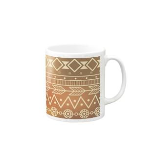 ネイティブ柄B Mugs