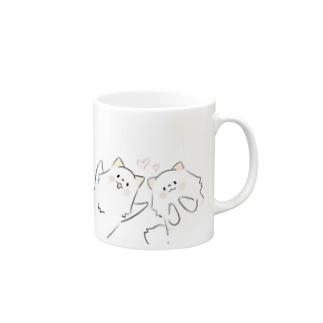 いぬぽめの2ポメ① Mugsの取っ手の右面
