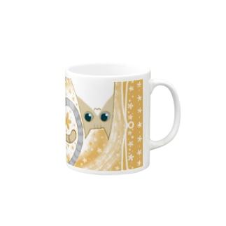 ゆるい系の猫-おれんじ色- Mugs