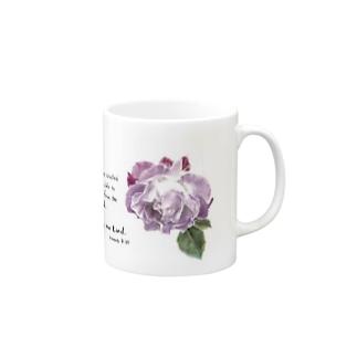 紫のバラ Mugs