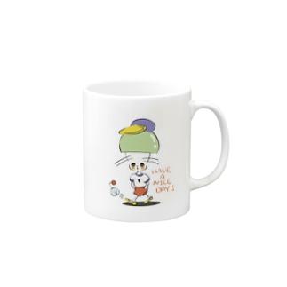 おぼろ げんげんげんげげんげの良き日になるのかいな マグカップだよね Mugsの取っ手の右面