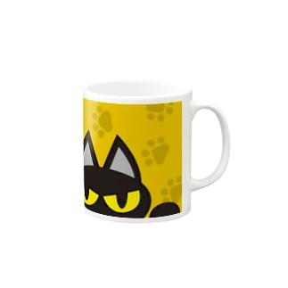 夜魔猫亭悪い猫マグカップ Mugs