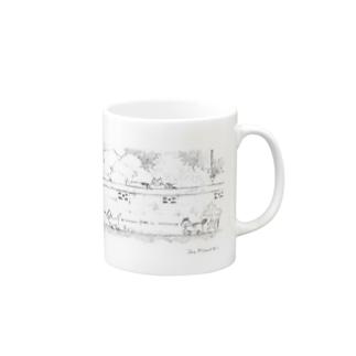 ソーシャルディスタンス Mugs