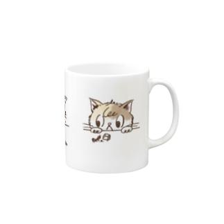 三毛猫むぎ Mugs