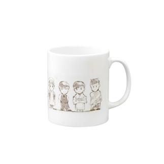 4人(10人分身ver.) Mugs