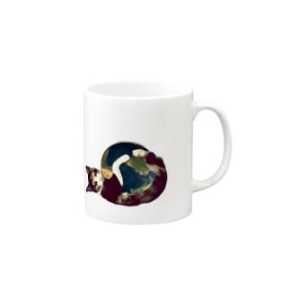 三毛猫の地球(猫キックver) Mugs