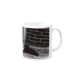 黒猫1 Mugs