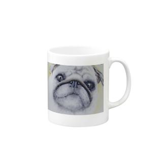 パグカップ(マグカップ) Mugs
