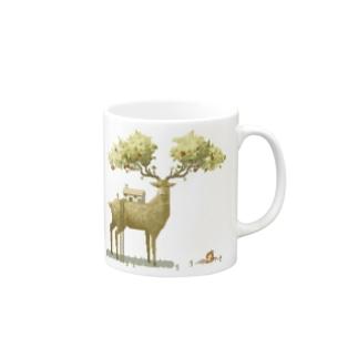 Apple deer Mugs