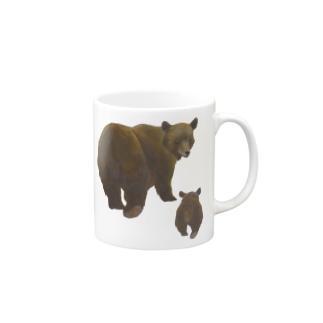 冬眠めざめのおやこヒグマ Mugs