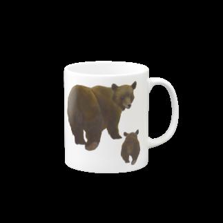 gomaphの冬眠めざめのおやこヒグマ Mugsの取っ手の右面