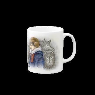 Cor Leonis SUZURI storeのマグカップ「雪の果て」 Mugs