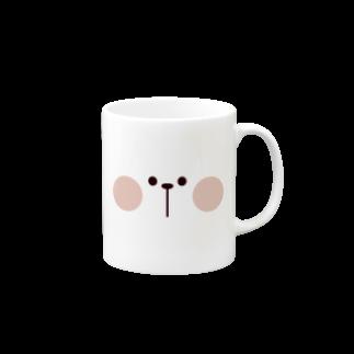 AKIRAMBOWのSpoiled Rabbit - Face / あまえんぼうさちゃん - かおマグカップ