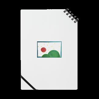 晴田書店のお山と太陽 ノート