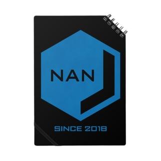 NANJCOIN公式ロゴ入り(黒背景) ノート