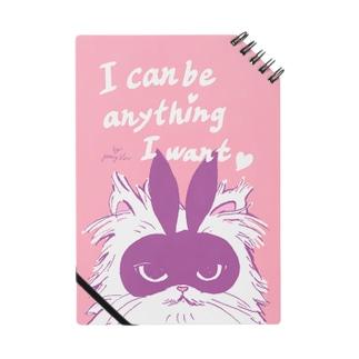 rabbit mask cat note*I can be anything I want*/『何でもなりたいものになれる』とあるネコノート ノート