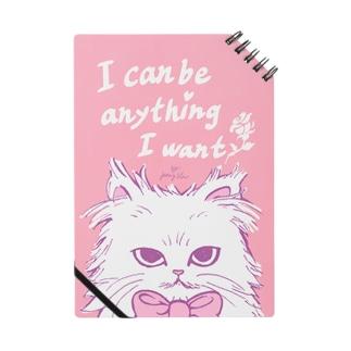 ribbon cat note*I can be anything I want*/『何でもなりたいものになれる』とあるネコノート Notes