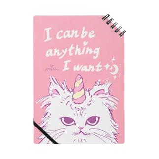 unicorn cat note*I can be anything I want*/『何でもなりたいものになれる』とあるネコノート ノート