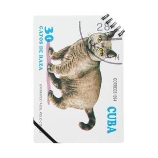 キューバの切手・猫切手 ノート