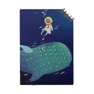 潜水ちゃんとジンベエザメ ノート