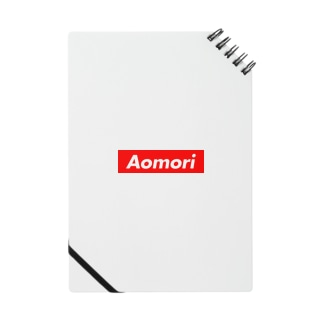 AOMORI(青森県/あおもり)都道府県 ボックスロゴ ノート