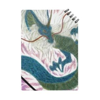 四聖獣の西方を護る青龍をパステルで描いています。 Notes