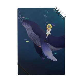 潜水ちゃんとクジラ ノート