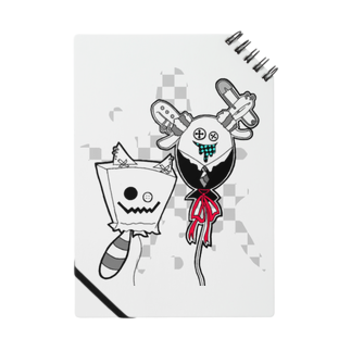KIKITEKI_LABORATORYの猫紙袋 × 兎風船 Notes