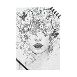 花の髪の女性! ノート