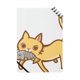 お魚くわえた猫ちゃんのお買い物?? ノート