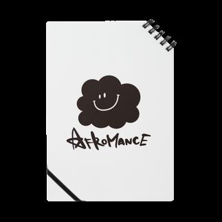 AFROMANCEのアフロマンス・ロゴ ノート