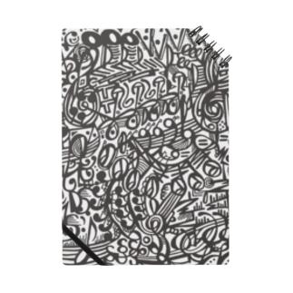 フクハラアキコの楽譜柄 Notes
