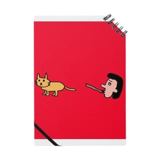 笛を吹く岩崎さんとネコ Notes