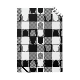 将棋ギンガム(黒) ノート