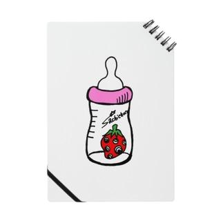 哺乳瓶いちご(ピンク) Notes