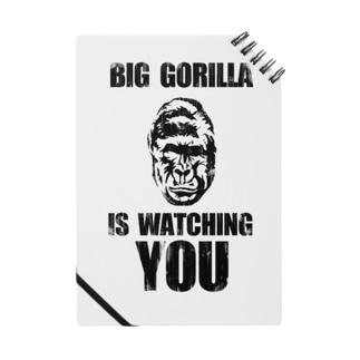 BIG GORILLA IS WATCHING YOU(黒字) ノート