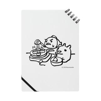 パンケーキをつくる小梅うさぎと桃子さかな Notes