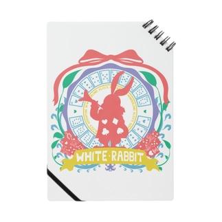 カレッジ風★不思議の国のアリス★ホワイトラビット‐カラフル Notes
