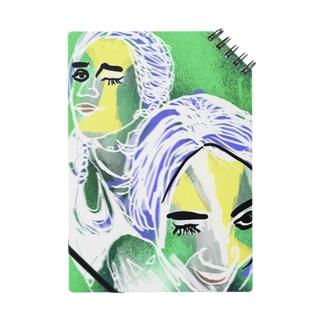 緑アート落書き女の子デザイン Notes
