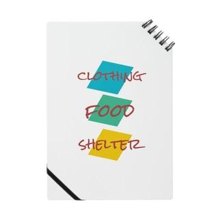 衣食住Tシャツ Notes