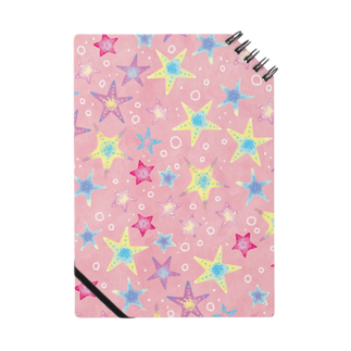 Fanfleecyのヒトデぎっしり柄(pink) Notes