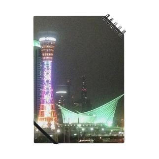 ポートタワーの夜景 Notes